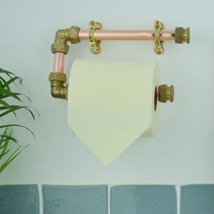 Industrial Copper And Brass Toilet Roll Holder