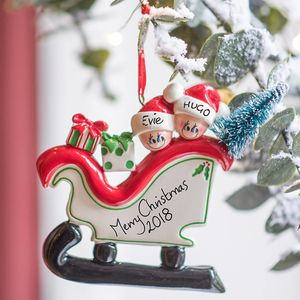 Christmas Family Personalised Decoration - tree decorations
