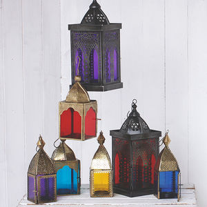Vintage Style Glass Lanterns - votives & tea light holders