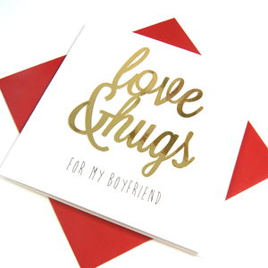 Boyfriend Love And Hugs Card - new in
