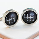 Personalised Gear Stick Cufflinks