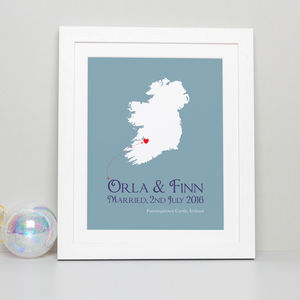 Personalised Wedding Print - gifts for couples