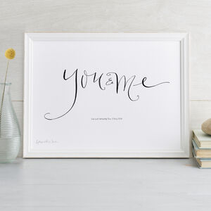 Personalised Romantic Print 'You And Me'