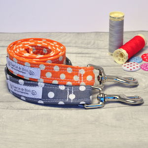 Orange Or Grey Dog Lead/Leash For Boy Or Girl Dogs - dogs