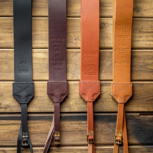 Personalised Retro Leather Camera Strap - gifts for him