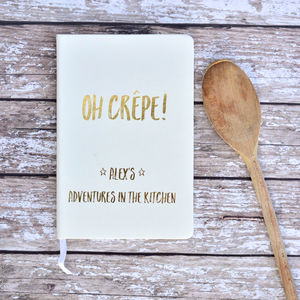 Oh Crepe! Personalised Blank Recipe Journal