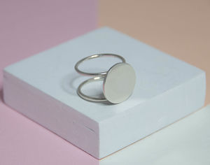 Double Band Circle Ring - rings