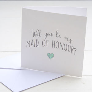 Will You Be My Maid Of Honour Card - bridesmaid cards