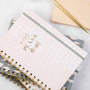 'Notes Plans Dreams' Luxury Personalised Notebook
