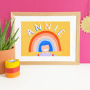 Rainbow Personalised Name Nursery Kids Room Print