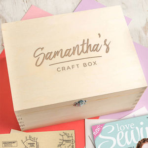 Personalised Arts And Craft Box For Teen Or Adult