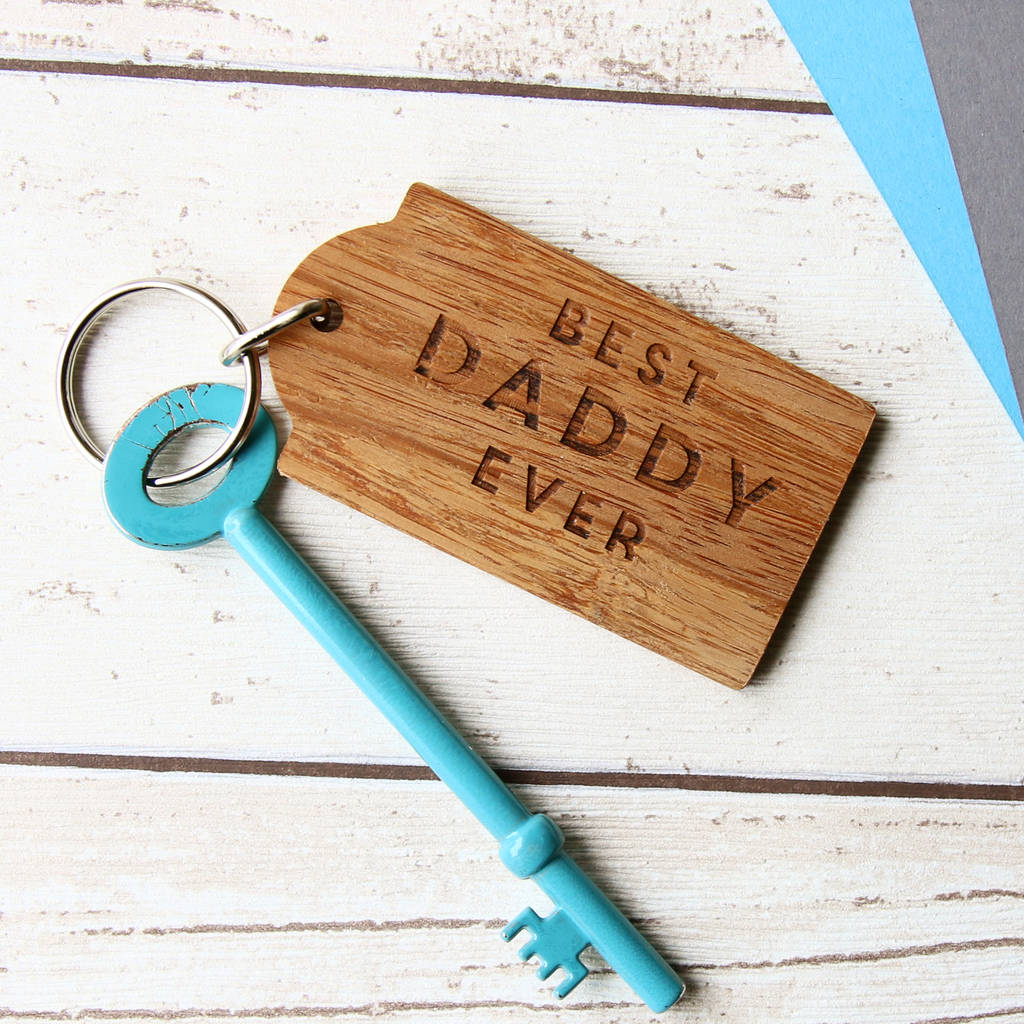 Best Daddy Or Dad Ever Key Ring