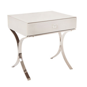 One Drawer Bedside In White - furniture
