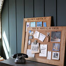 Personalised Cork Or Chalk Notice Board