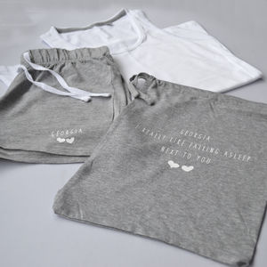 Personalised I Like Sleeping Next To You Pyjama Set - new in fashion