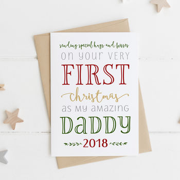 First Christmas As My Daddy Card