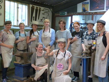Blacksmithing Hen Party At Oldfield Forge