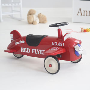 Red Ride On Aeroplane Toy