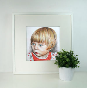 Personalised Family Child Portrait Drawing - children's room