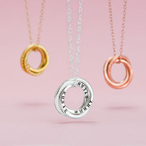 Personalised Russian Ring Necklace - wedding thank you gifts