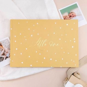 Baby Memory Book Yellow Dots