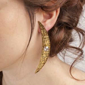 Tribal Statement Crystal Stud Earrings - earrings