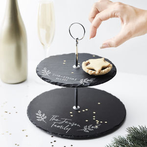 Personalised Christmas Treats Cake Stand - festive entertaining