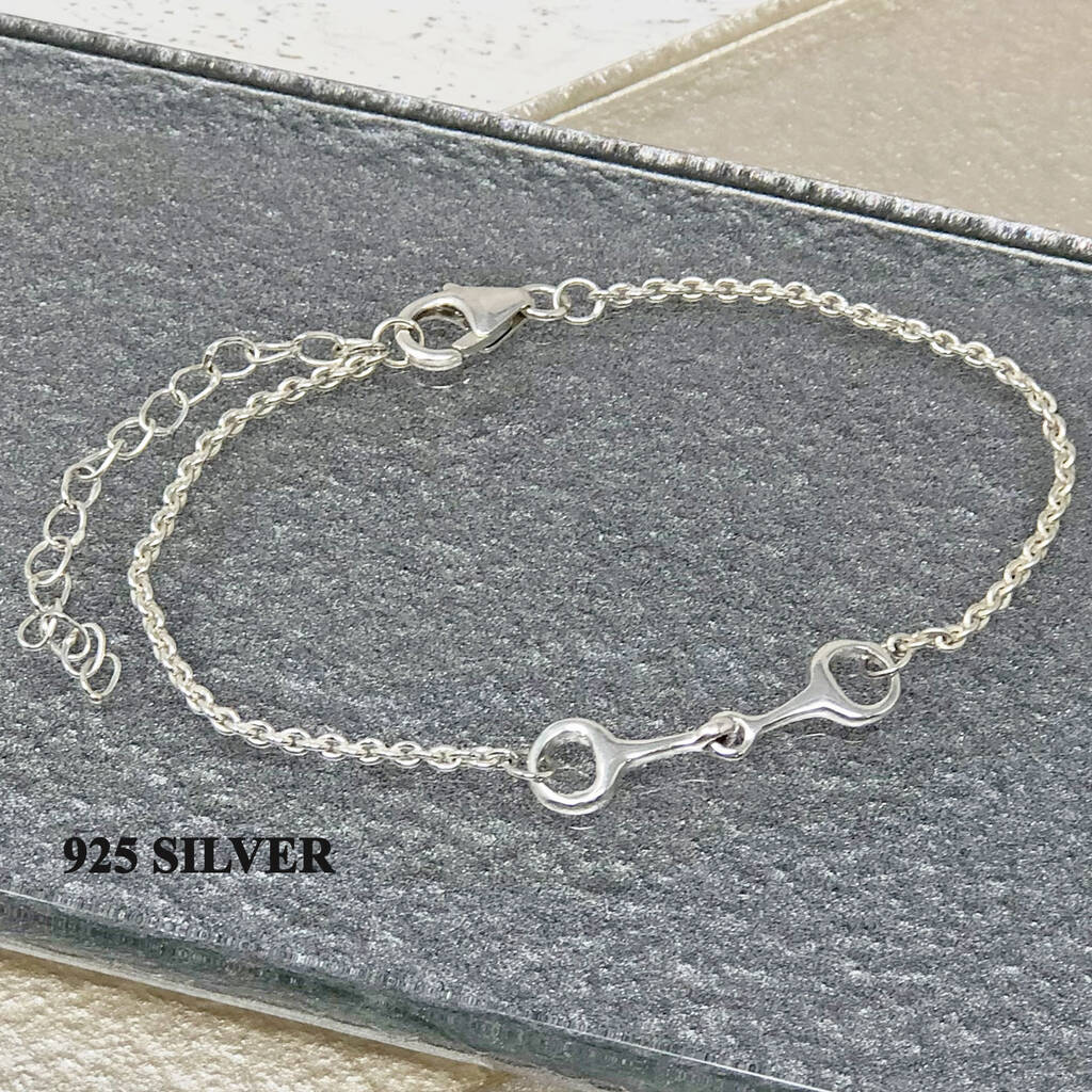 36f8d7d8a Horse Bit Equestrian Themed Delicate Bracelet. 925 silver option. Example of  personalised bag