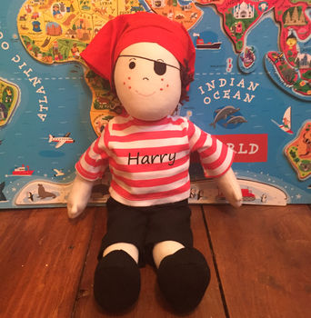 Personalised Pirate Or Cowboy Doll