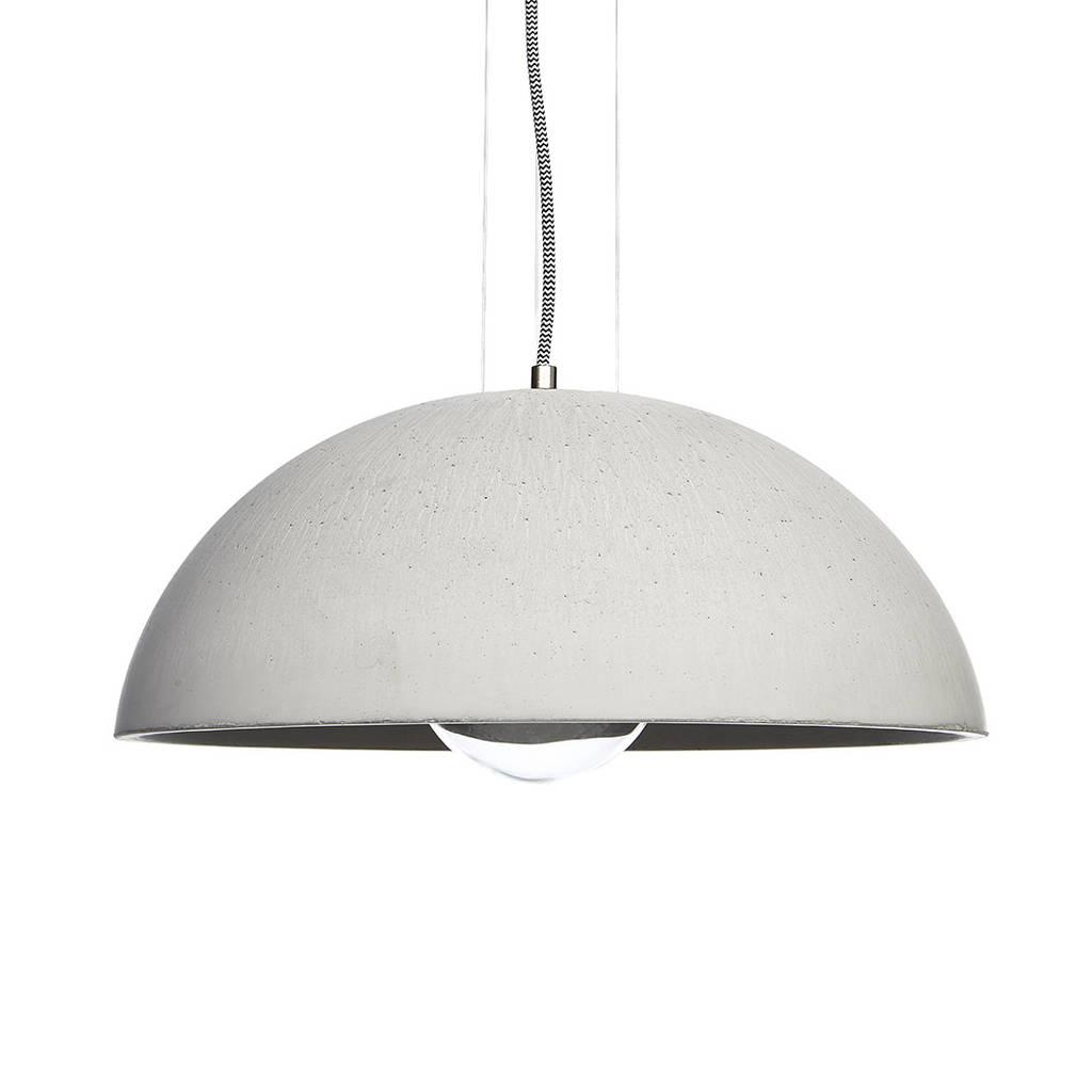 Globus 410 concrete dome pendant light by grattify globus 410 concrete dome pendant light aloadofball Gallery