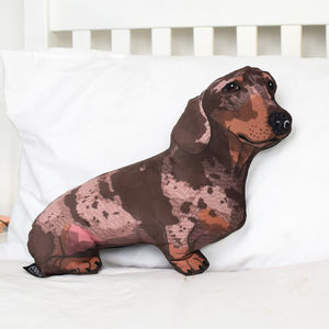 Velvet Sausage Dog Dachshund Pillow - children's room