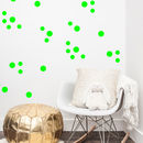 Neon Confetti Dot Wall Stickers