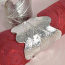 Oak Leaf Napkin Rings Pair, House Warming Gifts