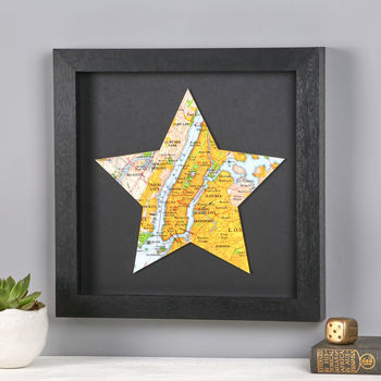 Personalised Map Location Star Gift For Him