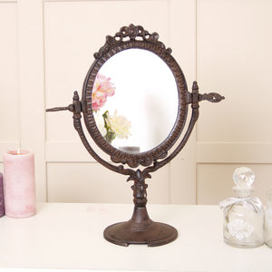 Cast Iron Edwardian Dressing Table Face Mirror