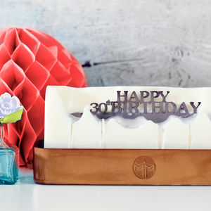 'Happy 30th Birthday' Hidden Message Candle - 30th birthday gifts