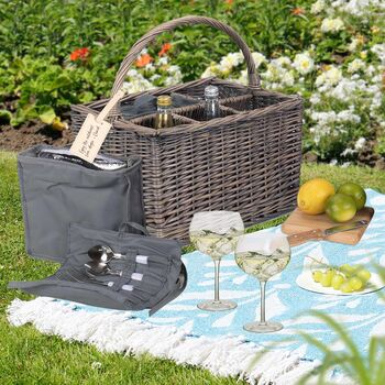 Althorp Personalised Picnic Basket And Gin Glasses