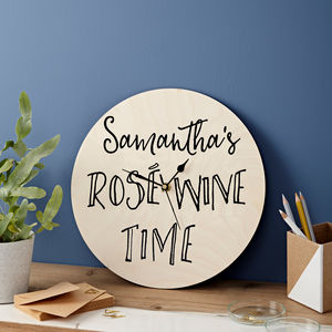 Personalised Drink Time Clock - prosecco gifts