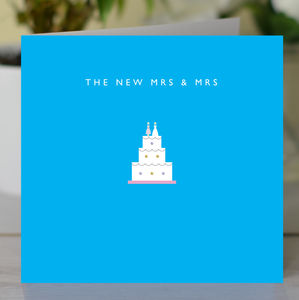 'The New Mrs And Mrs' Gay Wedding Card - wedding cards & wrap