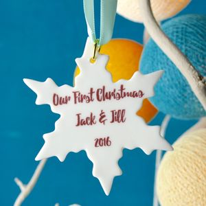 Personalised First Christmas Snowflake