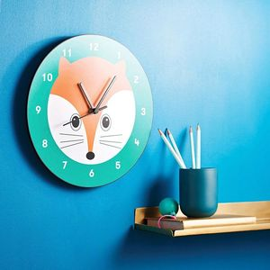 Fox Wall Clock - bedroom