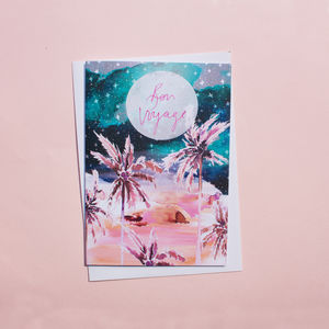 Midnight Nevada 'Bon Voyage!' Greetings Card - what's new