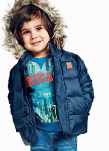 Mattia Down Jacket In Navy Blue