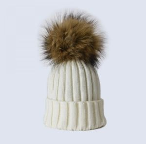 Child's Luxury Faux Fur Pom Pom Hat