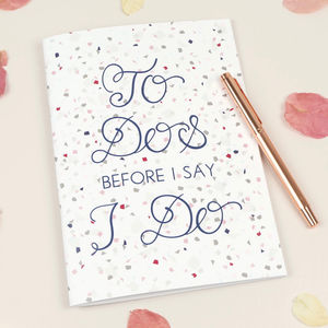 'To Dos Before I Do' Terrazzo A5 Notebook