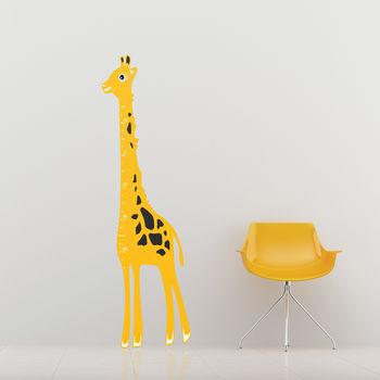 Kids Giraffe Height Chart Wall Sticker