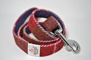 Check Harris Tweed Dog Lead - pet leads & harnesses
