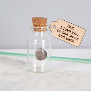Moon And Back Keepsake Message Bottle - wrapping
