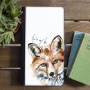 Inky Fox Flip Phone Case With Optional Message