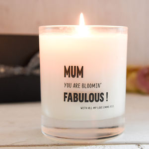 Personalised Mum Scented Candle - home accessories